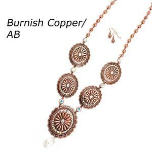 Copper Concho Necklace Set